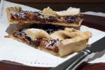 Deliciously moist apple & mincemeat, encrusted with lovely crisp pastry!