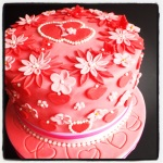 Isabella's Very Pink Vanilla Birthday Cake!  #MadeInMacclesfield
