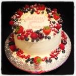 'Follow Your Dreams!' Luscious Lemon layer cake with Seasonal Fruits!  #MadeInMacclesfield